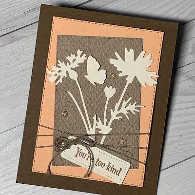 Silhouette florals greeting carding using Quiet Meadow Stamp Set from Stampin' Up!
