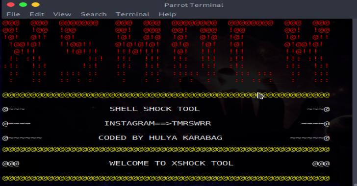 XSHOCK : Tool To Exploits ShellShock