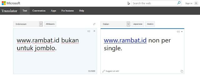 Situs Penerjemah Bahasa Terbaik & Akurat - Bing Translator