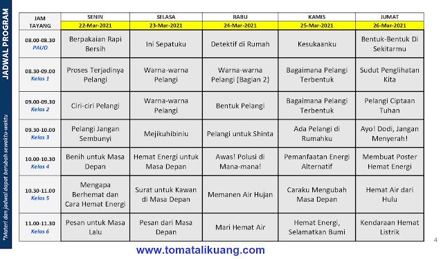 jadwal program belajar dari rumah bdr 22 23 24 25 26 maret 2021 tomatalikuang.com