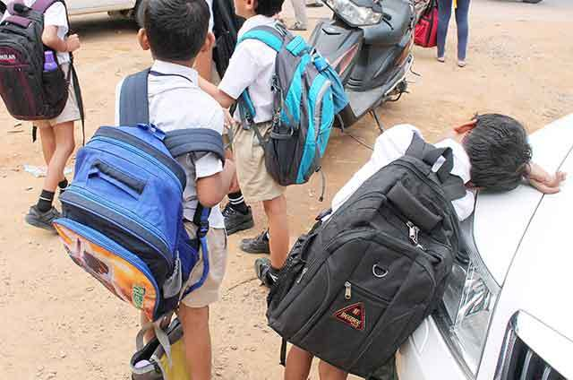There was no heavy burden on the shoulders of the school in the school;