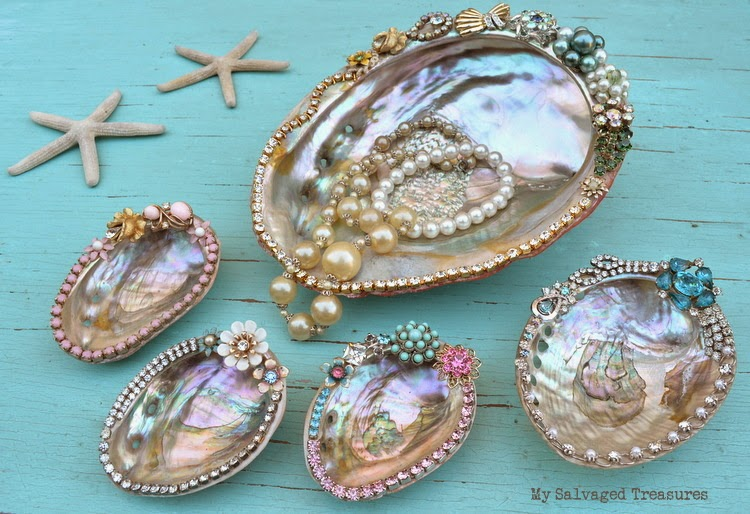 how to decorate abalone shells