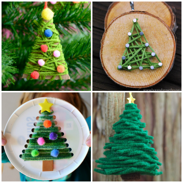 Easy Christmas Tree Crafts for Kids - Red Ted Art - Make crafting ... | 600x600