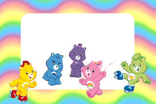 Care Bears Party, Free Printable Invitations, Labels or Cards.