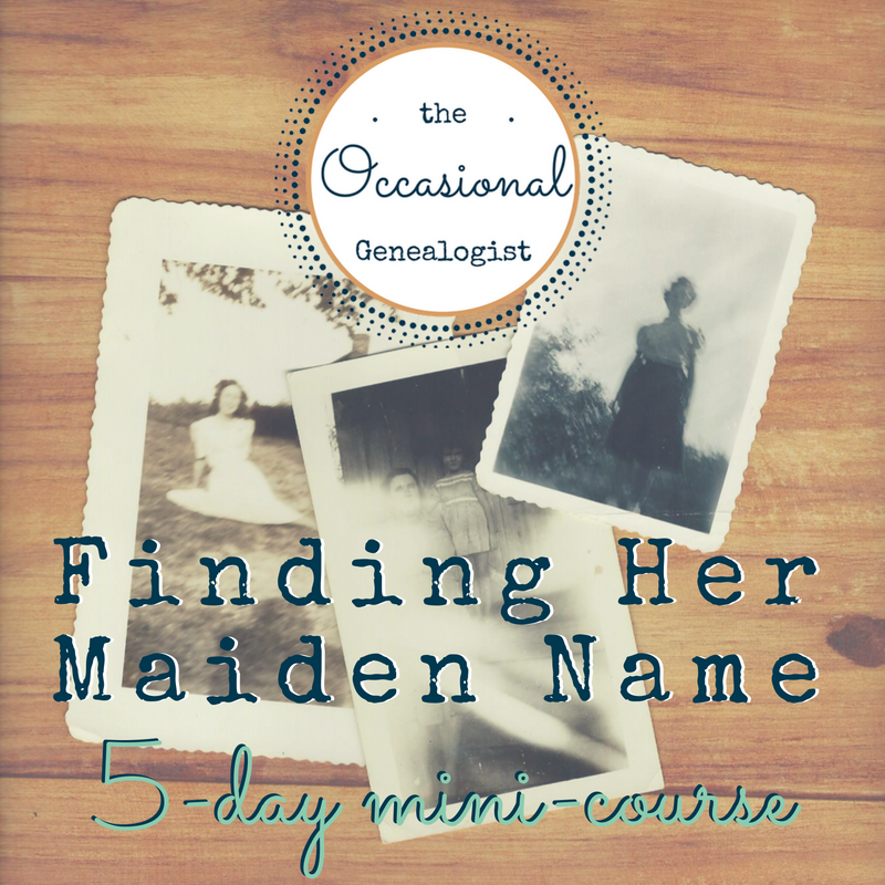 Finding Her Maiden Name: Develop The Skills To Bust A