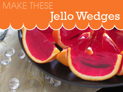 Jello wedges in orange cases