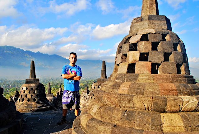 Marky Ramone Go in Borobudur Yogyakarta Indonesia