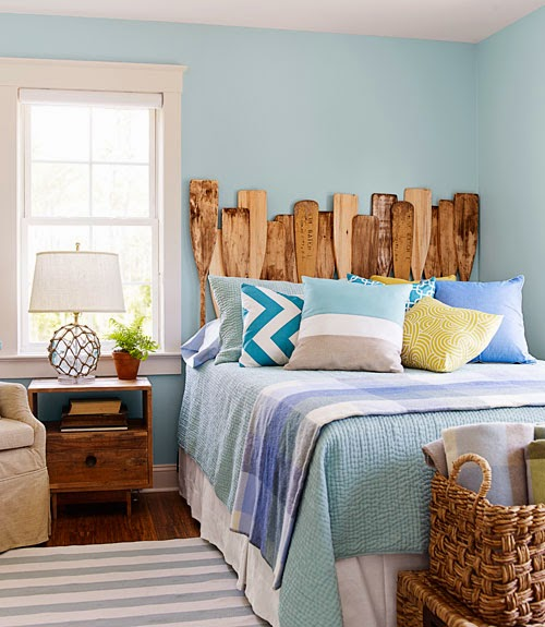 nautical oar headboard
