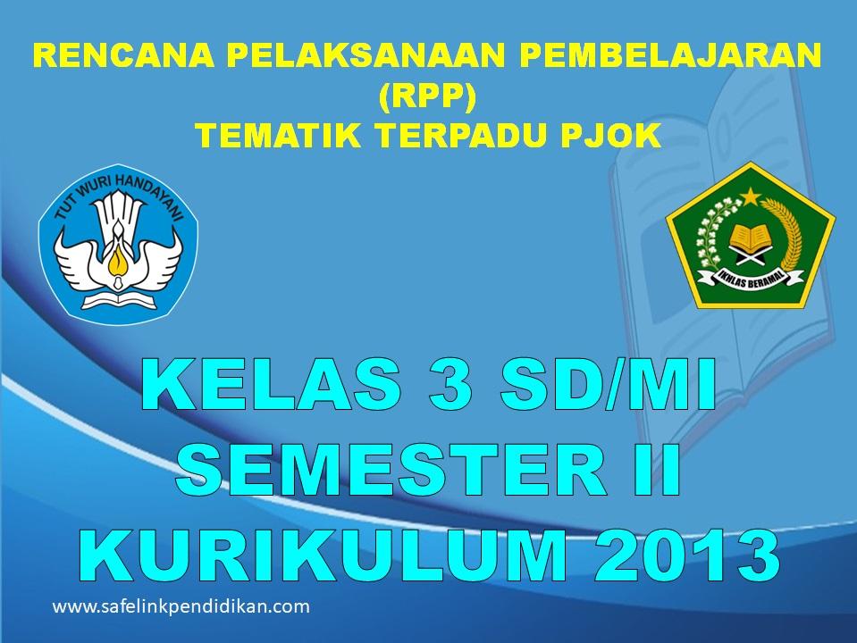 RPP PJOK 1 Lembar Semester 2 Kelas 3 SD/MI