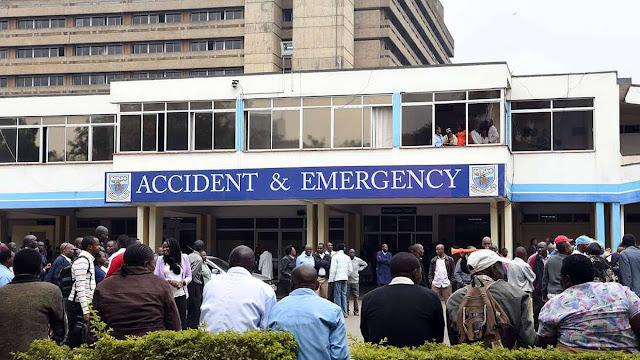 A Nairobi lawyer David Ochieng, 33, is admitted at Kenyatta National Hospital