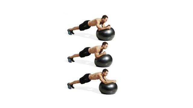 Swiss Ball Plank Circle