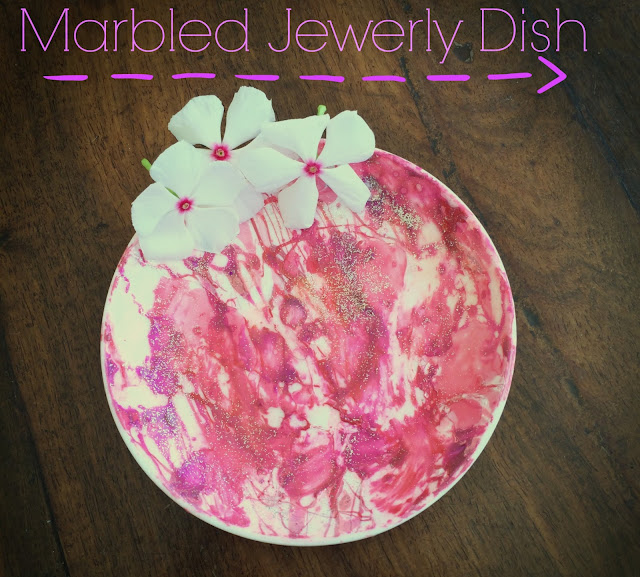 FashionDRA| DIY: Pretty Marble Jewerly Dish