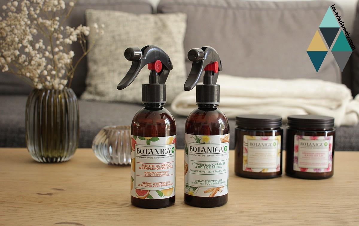 avis spray intérieur parfumé botanica airwick