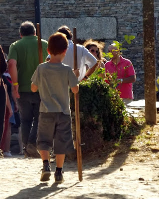 Pessoas na aldeia de Quintandona