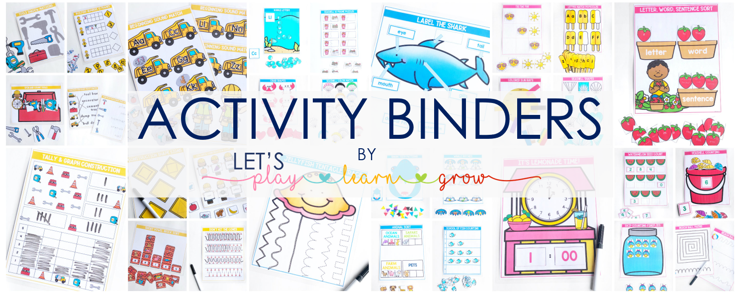 Activity Binders for Kids