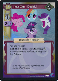 My Little Pony I Just Can't Decide! Canterlot Nights CCG Card