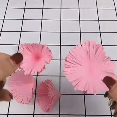 Carnation paper flower bouquet 5