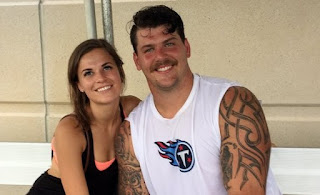 Taylor Lewan With His Wife
