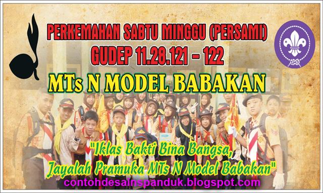 Banner Perkemahan Sabtu Minggu Persami Contoh Desain