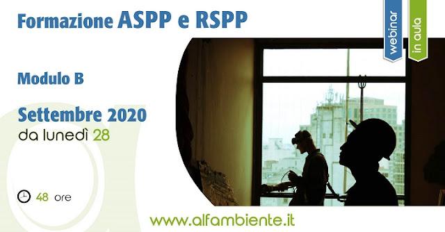 Formazione ASPP e  RSPP - Modulo B