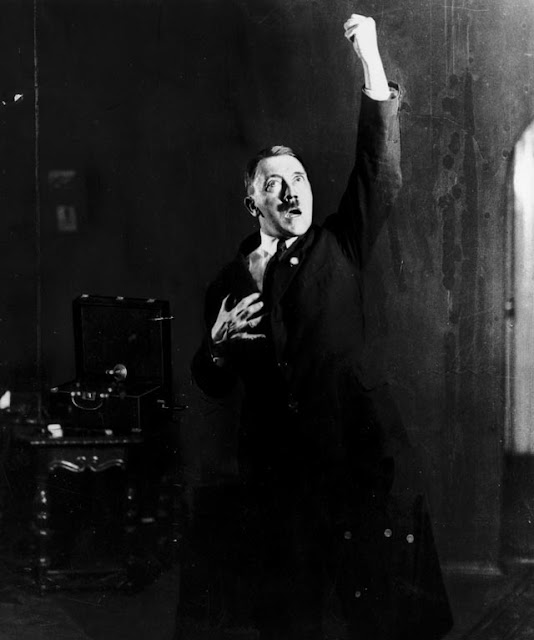 Adolf Hitler poses photographed by Heinrich Hoffmann worldwartwo.filminspector.com