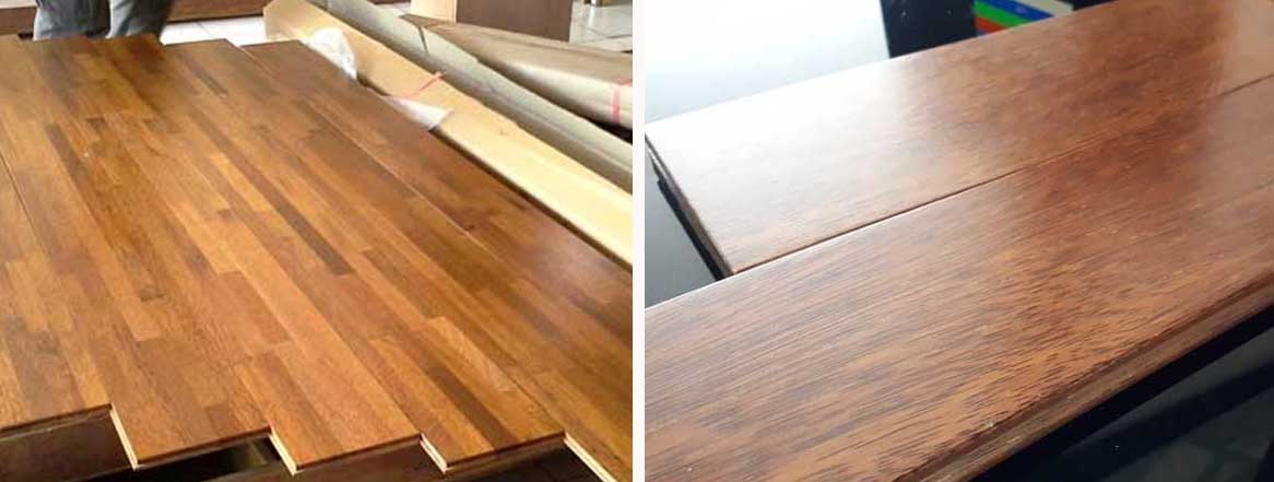 lantai kayu merbau UV coating