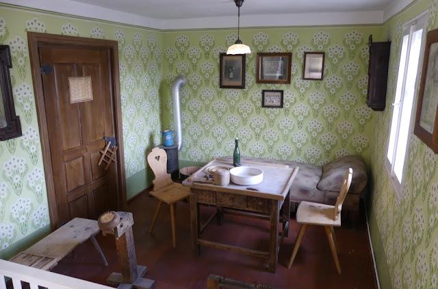 Deutsches Korbmuseum Michelau - typischer Wohn- und Arbeitsraum eines Korbmachers