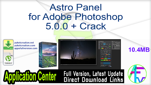 Astro Panel for Adobe Photoshop 5.0.0 + Crack