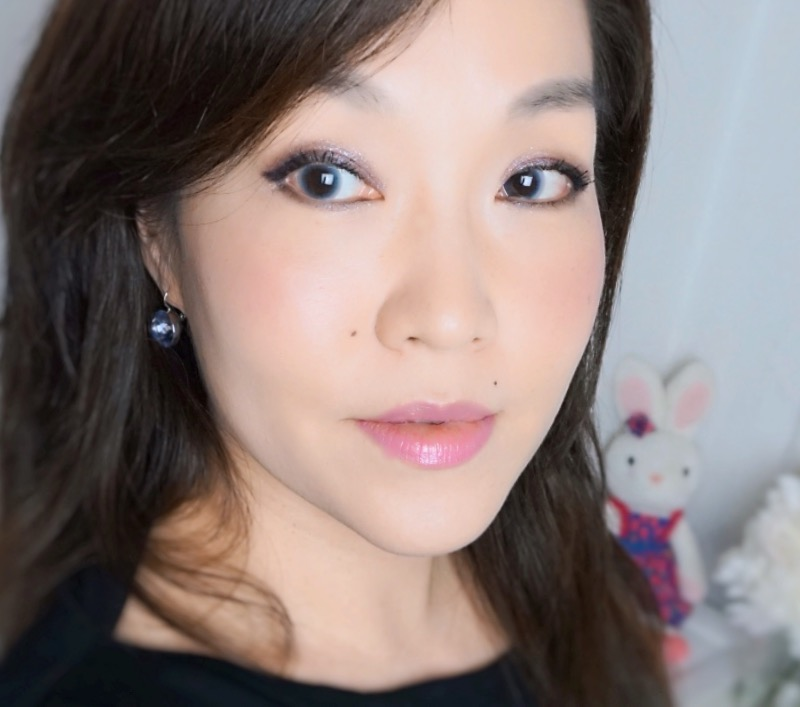 Makeup look with NARS Sin blush and Roman Holiday Lipstick