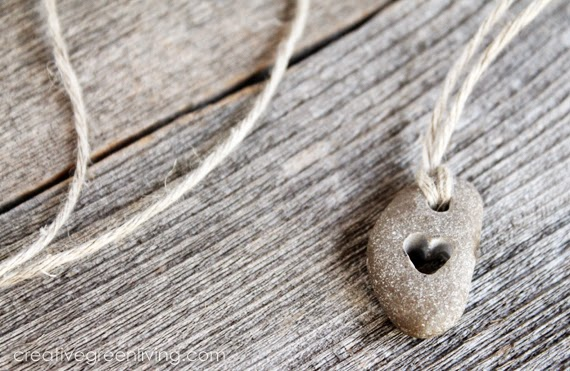 Using a Dremel rotary tool you could make this cute homemade drilled heart necklace for your sweetheart