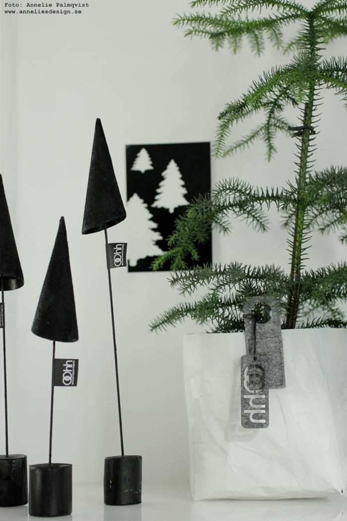 konformad gran, Oohh, gran, granar, julen 2016, annelies design, webbutik, webshop, nätbutik, nätbutiker, inredning, advent, julpynt, jul, svarta granar på pinne, rumsgran, Oohh kruka, krukor, vykort, svart och vitt, svartvit, svartvita, stilren, stilrena, stilrent.