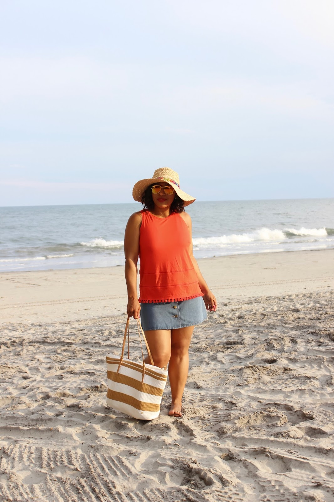 Beach Days Are The Best Days, beach attire, beach trends, atlantic city beach, beach hat, pom pom hat, beach cover up, sand, beach waves, atlantic city board walk