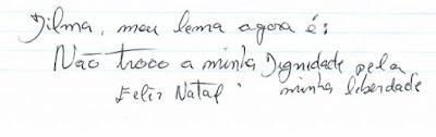 bilhete de Lula a Dilma