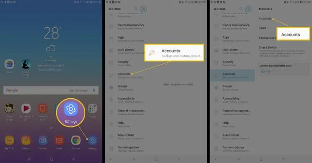 إزالة حساب Google من جهاز Android