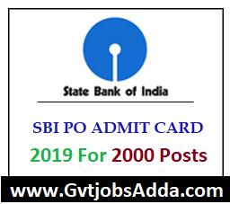 sbi admit card 2019