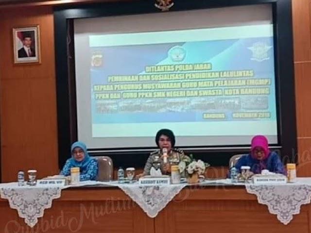 Ditlantas Polda Jabar Kolaborasi dengan MGMP PPKN dalam Edukasi Lalu Lintas Bagi Siswa