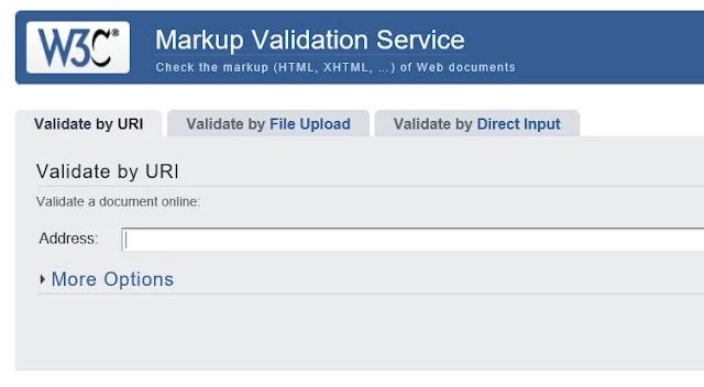 موقع W3 Validator