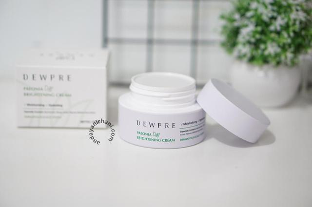 review dewpre paeonia cream