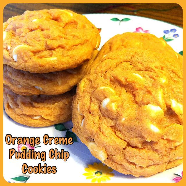 Orange Creme White Chocolate Pudding Cookies