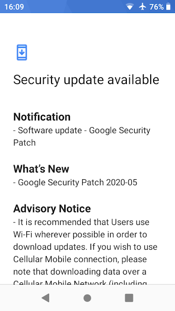 Nokia 1 receiving May 2020 Android Security patch