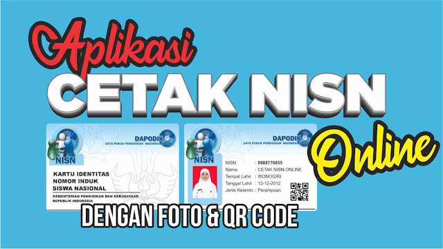 Cetak NISN Online Dengan Foto dan QR Code