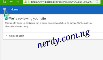Nerdy.Com.ng: What To Do When Adsense Don't Reply Your Application Status