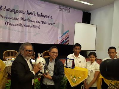 Ketua MPR-RI Lakukan Dialog Kebangsaan Dengan Ratusan Peserta Kongres Anak Indonesia