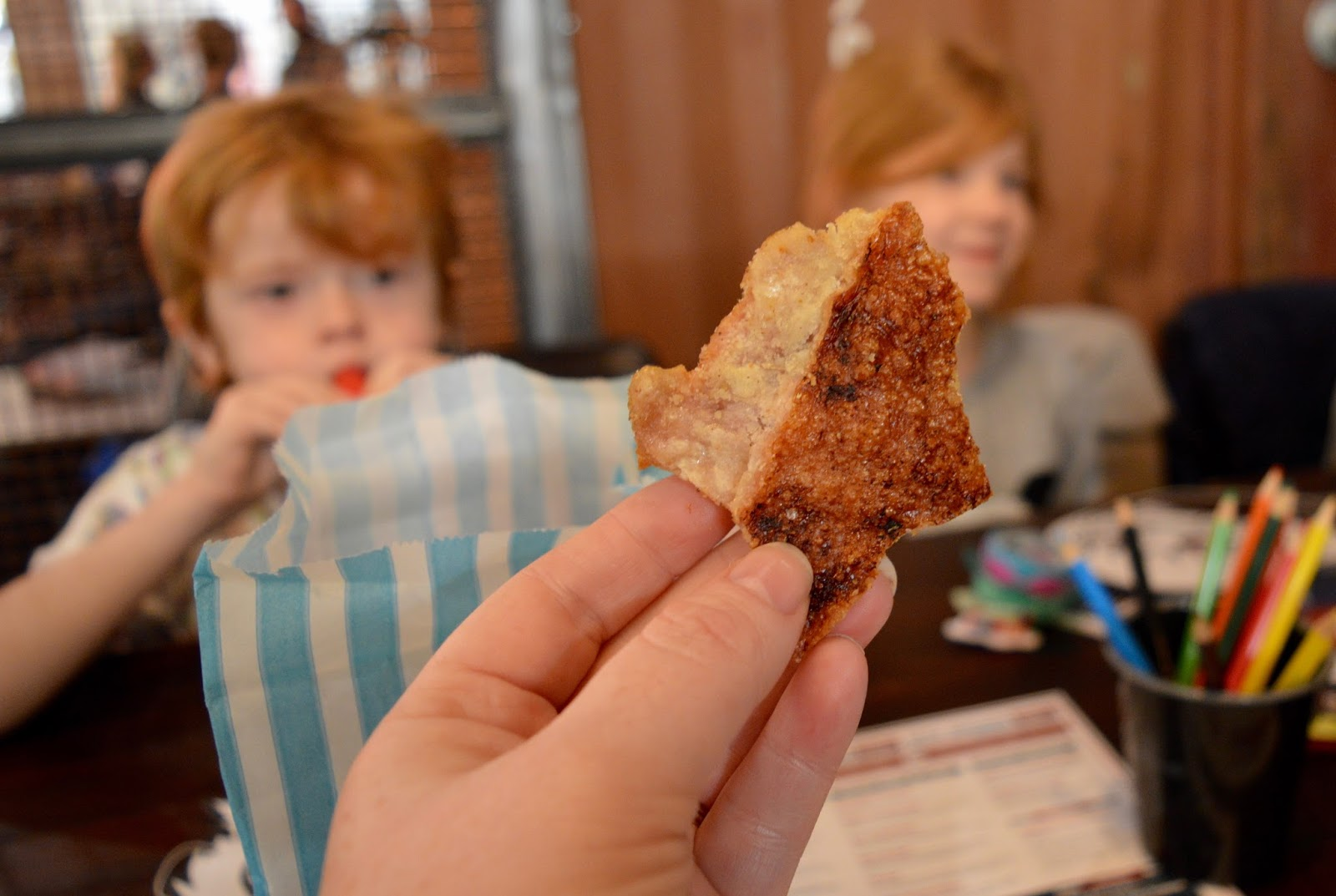 Red's True BBQ Newcastle | Menu Review (including Children's Menu) - homemade pork crackling