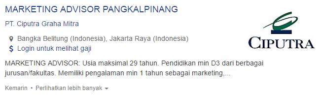 Info Lowongan Kerja Kabupaten Belitung Timur Terbaru 2019