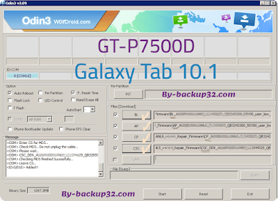 سوفت وير هاتف Galaxy Tab 10.1 موديل GT-P7500D روم الاصلاح 4 ملفات تحميل مباشر