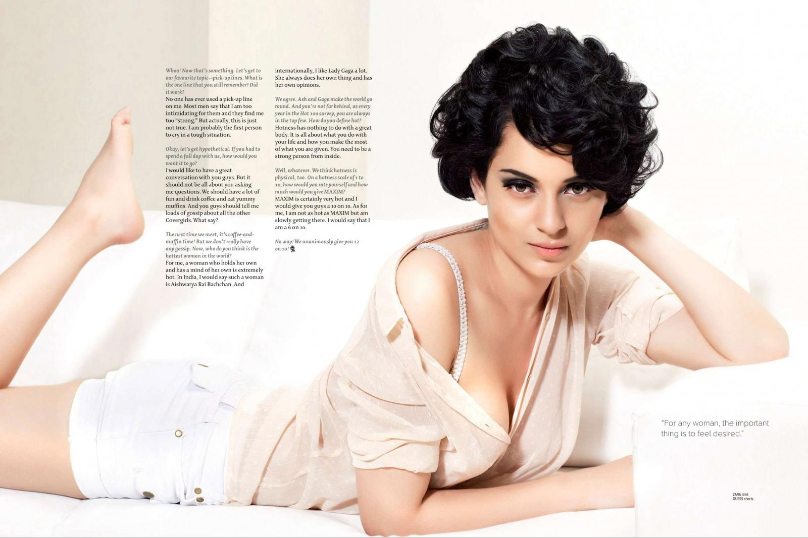 Bollywood Actresses In Maxim: Kangana Ranaut Photoshoot For Maxim Magazine Posters