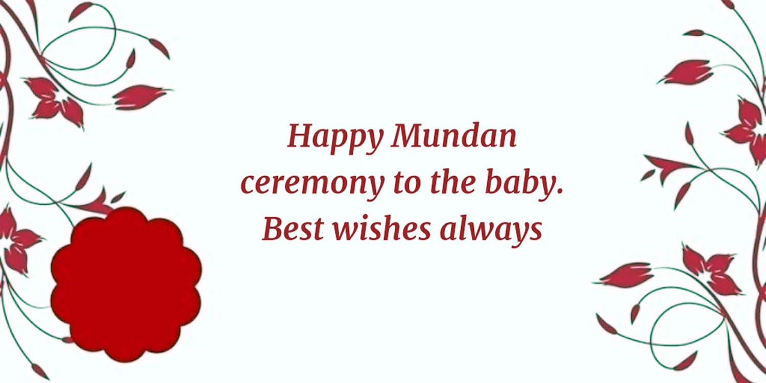 happy mundan wishes
