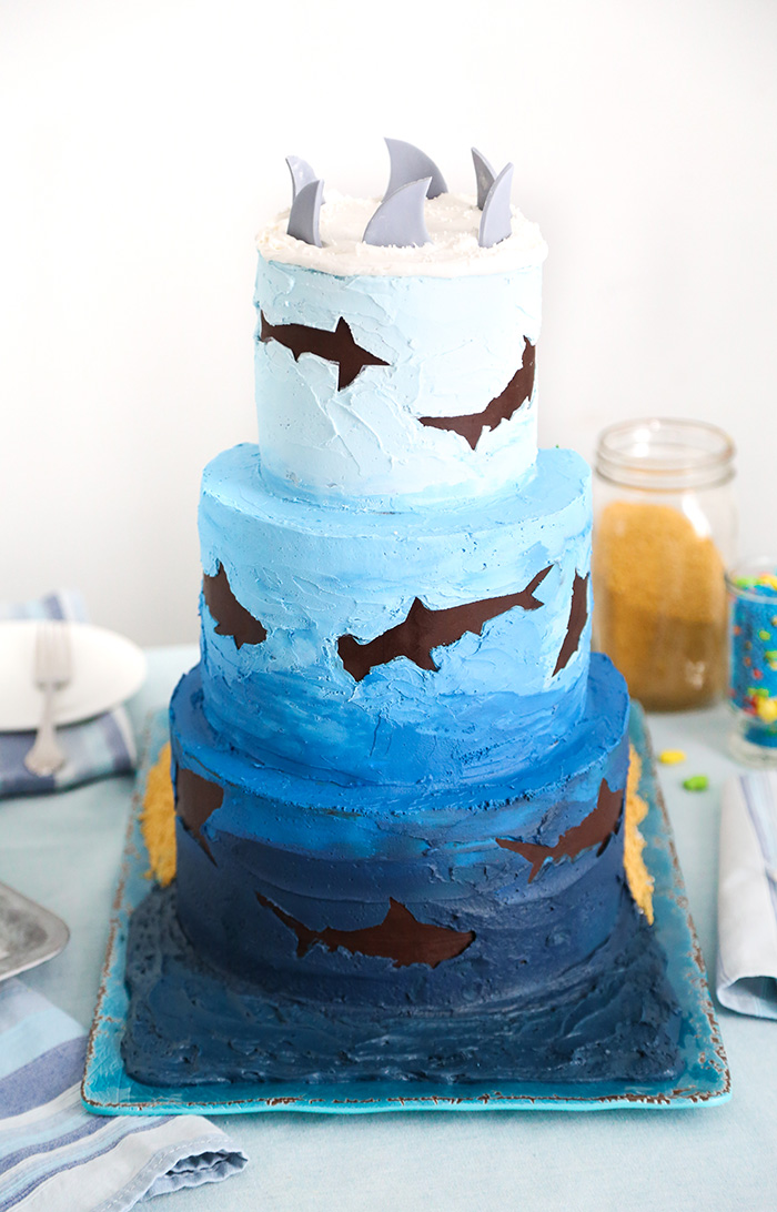 Shark Week Diorama Cake