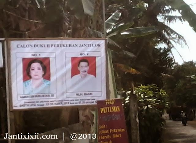 Poster gambar calon dukuh Janti Lor XI Jatisarono Nanggulan KP Yogyakarta
